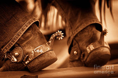 Working Cowboy Photograph - Cowboy Boots by Nicholas  Pappagallo Jr