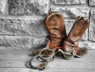 Art Print featuring the photograph Cowboy Boots by Sami Martin