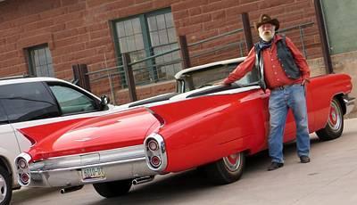 Cowboy Cadillac Print by Jim Romo