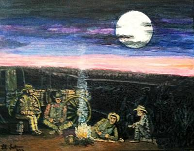 Painting - Cowboy Camp by Larry E  Lamb