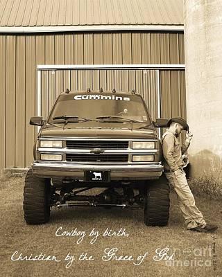 Cowboy Christian Original by Gayle Scheel