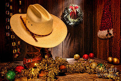 Photograph - Cowboy Christmas Party by Olivier Le Queinec