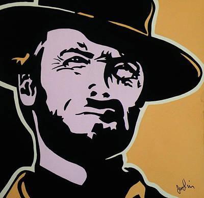 Clint Eastwood Art Painting - Cowboy Clint by Ian  King
