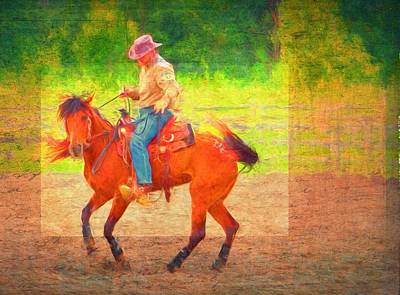 Cowboy Dance Art Print by Alice Gipson