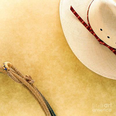 Cowboy Decor Art Print by Olivier Le Queinec