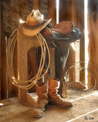 Working Cowboy Photograph - Cowboy Dust by Pam Carter