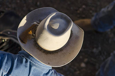 Of Rodeo Events Photograph - Cowboy From Above by Shelley Dennis