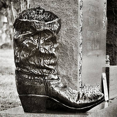 Photograph - Cowboy Grave by Angela Bonilla