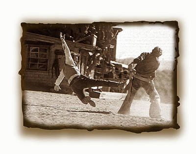 Photograph - Cowboy Gunfight 3 by Jeff Brunton