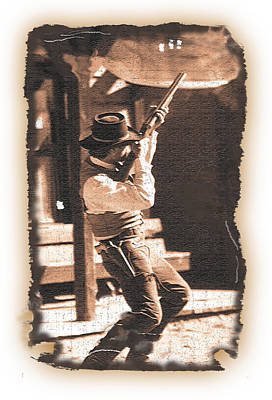 Photograph - Cowboy Gunfight 5 by Jeff Brunton