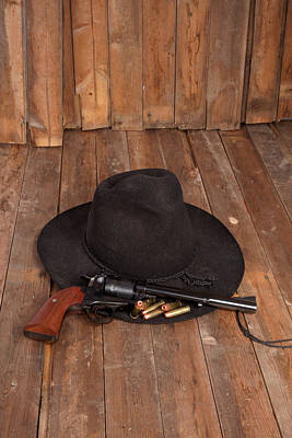 Photograph - Cowboy Hat And Gun by Scott Sanders