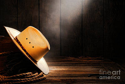 Cowboy Hat In Sunlight Print by Olivier Le Queinec