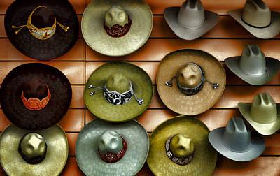 Cowboy Hats Art Print by Camille Lopez