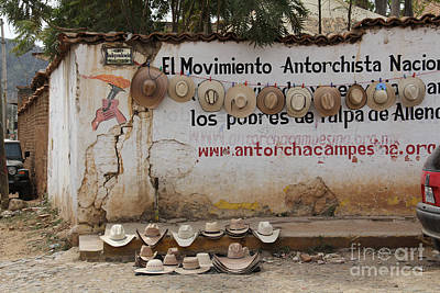 Photograph - Cowboy Hats In Talpa Mexico by Linda Queally