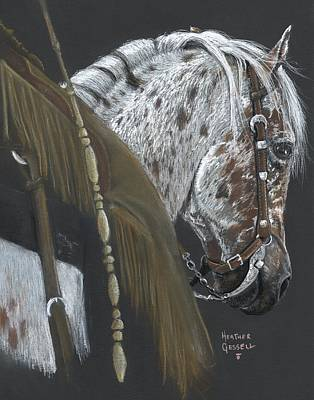 Western Riding Pastel - Cowboy by Heather Gessell