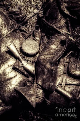 Photograph - Cowboy In Bronze by Imagery by Charly