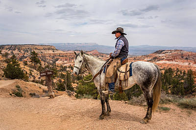 Photograph - Cowboy In Bryce Canyon Utah by Pierre Leclerc Photography