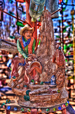 Photograph - Cowboy In Stone by Richard J Cassato