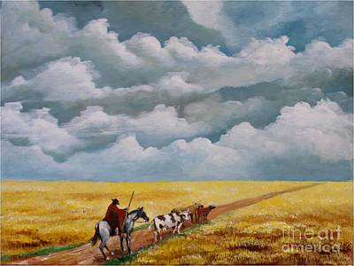 Cowboy In The Pampa Art Print