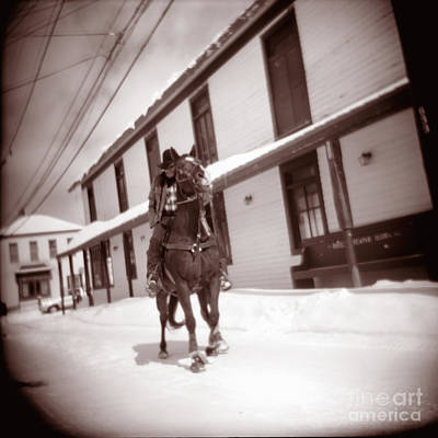 Holga Toy Camera Photograph - Cowboy In Town by Matthew Lit