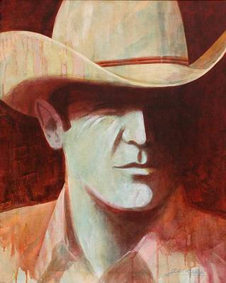 Painting - Cowboy by J W Kelly