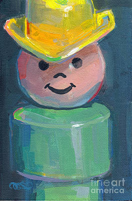 Little People Painting - Cowboy by Kimberly Santini