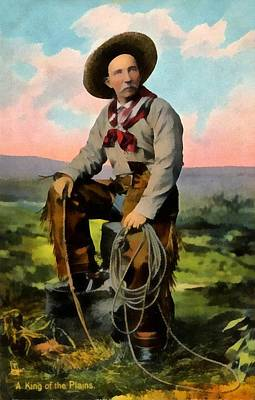 Movies Star Paintings - Cowboy King Of The Plains by Raphael Tuck And Sons