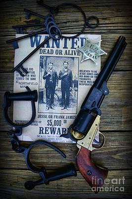 Cowboy - Law And Order Art Print by Paul Ward