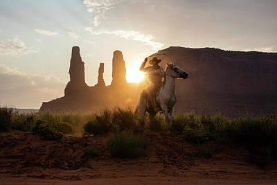 Cowboy Print by Michael Szoenyi