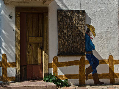 Southwest Photograph - Cowboy Mural In Benson Arizona Usa by Dave Dilli