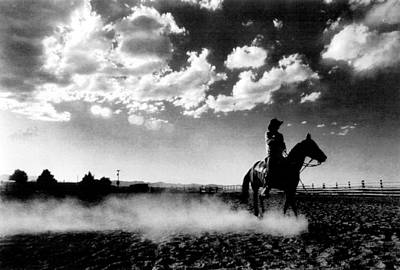 Cowboy On Horse Art Print by Retro Images Archive
