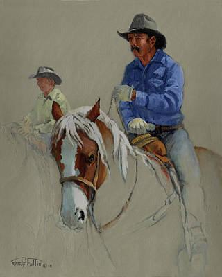 Working Cowboy Painting - Cowboy by Randy Follis
