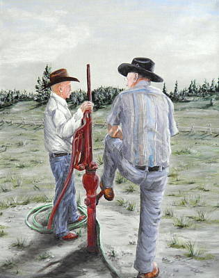 Painting - Cowboy Rap by Sharon Tabor
