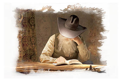 Photograph - Cowboy Reading by Judy Deist