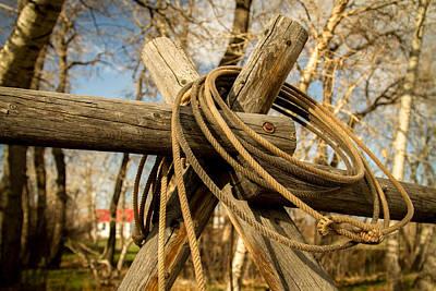 Working Cowboy Photograph - Cowboy Rope by Richard Cheski