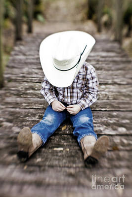 Cowboy Hat Photograph - Cowboy by Scott Pellegrin