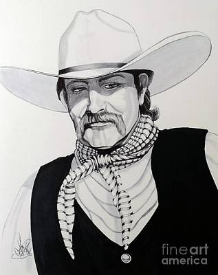 Drawing - Cowboy Steven by Cheryl Poland