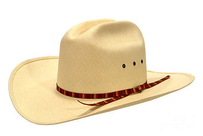 Cowboy Hat Photograph - Cowboy Straw Hat by Olivier Le Queinec