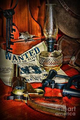 Cowboy - The Sheriff Art Print by Paul Ward