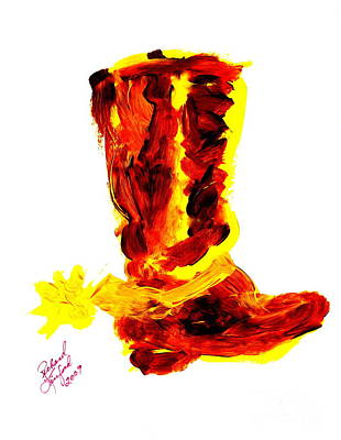 Painting - Cowboy Tithing Boot And Spur 5 by Richard W Linford