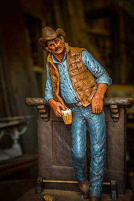 Smokey Mountain Drive Photograph - Cowboy by Todd Reese
