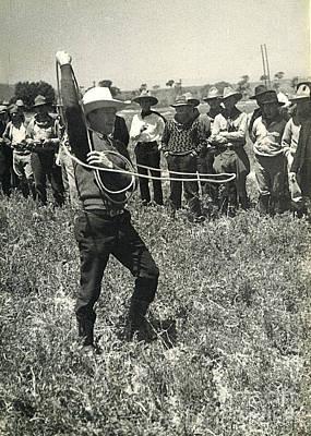 Photograph - Cowboy W Lasso 1935 by Patricia  Tierney