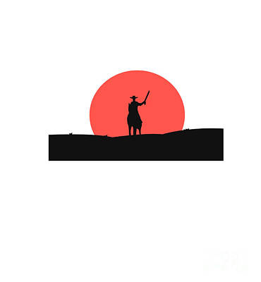 Event Wall Art - Digital Art - Cowboy With A Gun On A Horse In The by Vlwashington
