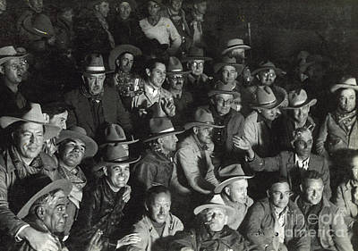 Photograph - Cowboys 1935 by Patricia  Tierney