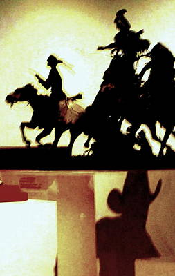 Western Bronze Photograph - Cowboys And Indians by Randall Weidner