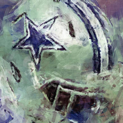 Marvelous Marble - Cowboys Art Abstract by David G Paul