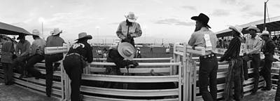 Cowboy Hat Photograph - Cowboys At Rodeo, Pecos, Texas, Usa by Panoramic Images