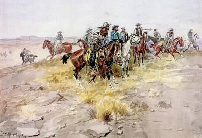 Digital Art - Cowboys by Charles Russell