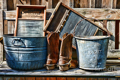 Cowboys Have Laundry Too Art Print by Paul Ward
