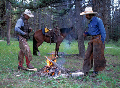 Photograph - Cowboys by Leland D Howard
